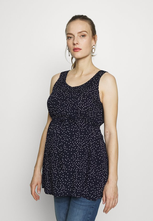 SPOT PRINT CAMISOLE - Blouse - navy