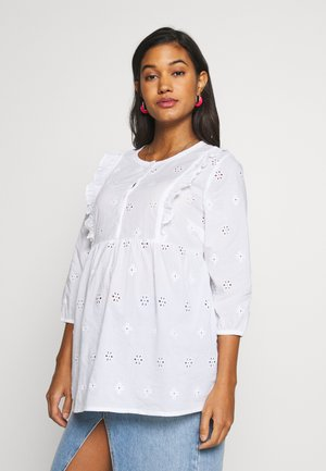 BRODERIE BLOUSE - Blusa - white