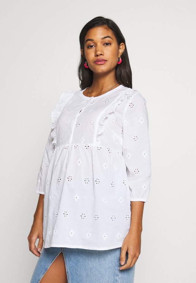 BRODERIE BLOUSE - Blus - white
