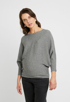 WRAP BACK BATWING JUMPER - Svetr - grey