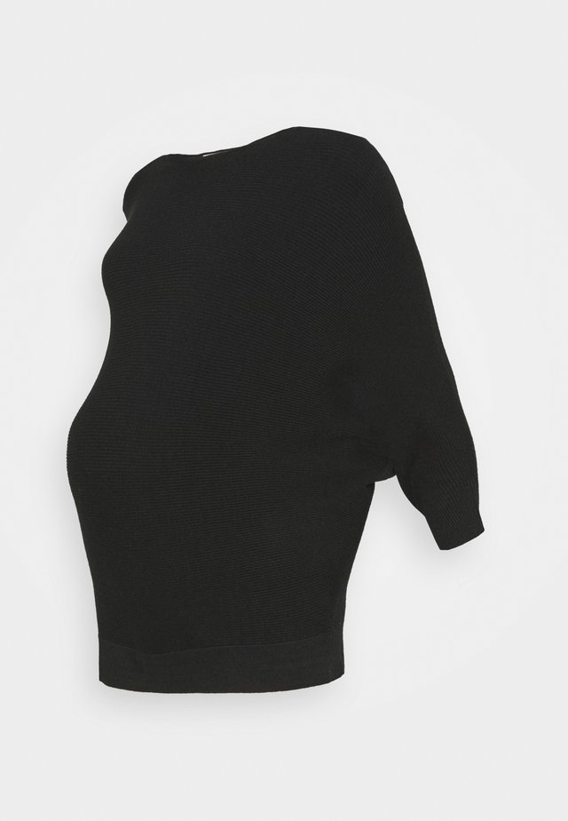 WRAP BACK BATWING JUMPER - Sweter - black