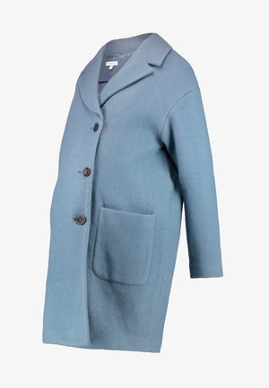 TEXTURED OVERCOAT - Abrigo - duck egg