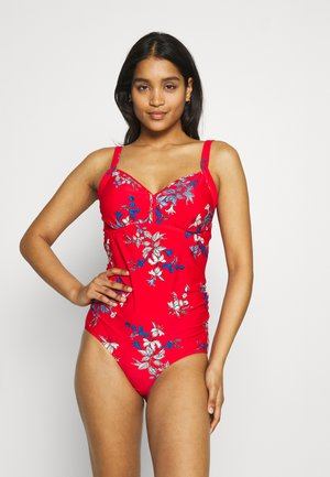 FLORAL SWIMSUIT - Badpak - red