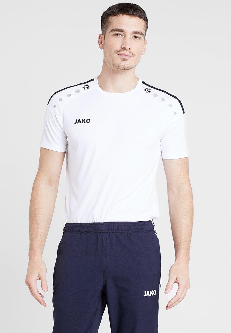 JAKO - TRIKOT STRIKER 2.0 - T-shirt imprimé - weiß/schwarz
