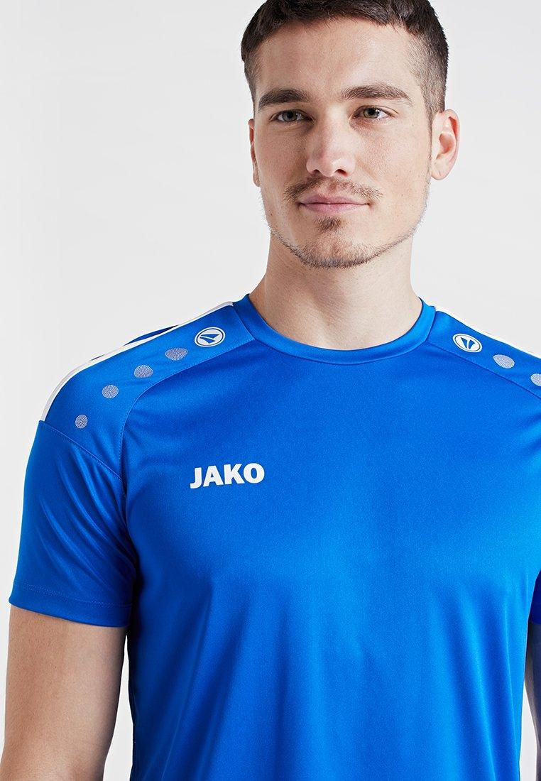 JAKO TRIKOT STRIKER 2.0 - T-shirts med print - royal/weiß