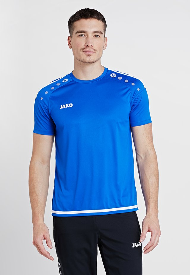 TRIKOT STRIKER 2.0 - T-shirt print - royal/weiß