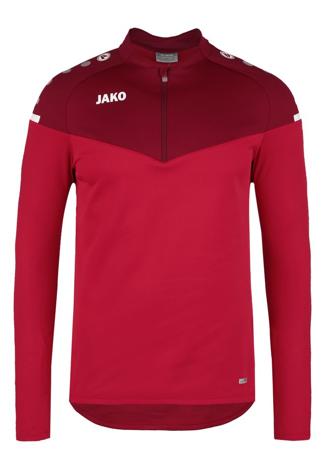 ZIP CHAMP 2.0 - Fleece trui - rot/weinrot