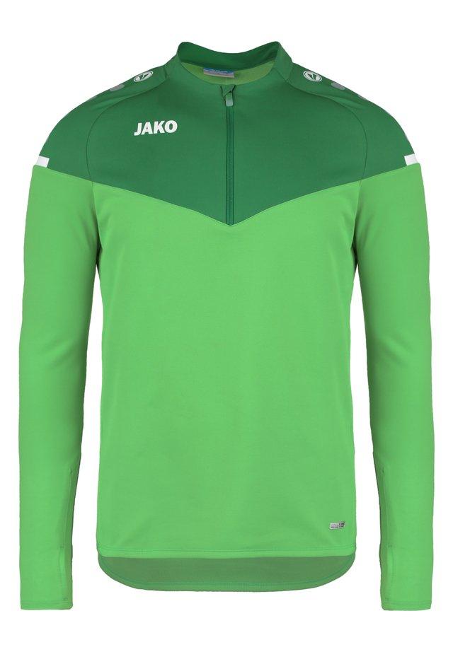 ZIP CHAMP 2.0 - Fleecepullover - soft green/sportgruen
