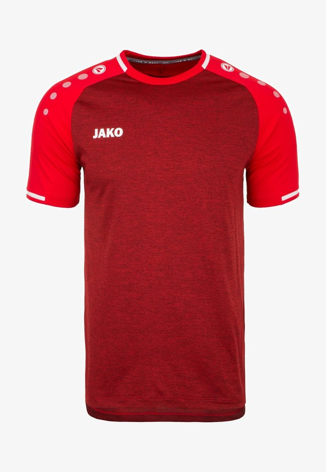 TRIKOT PRESTIGE HERREN - T-Shirt print - rot meliert/weiß