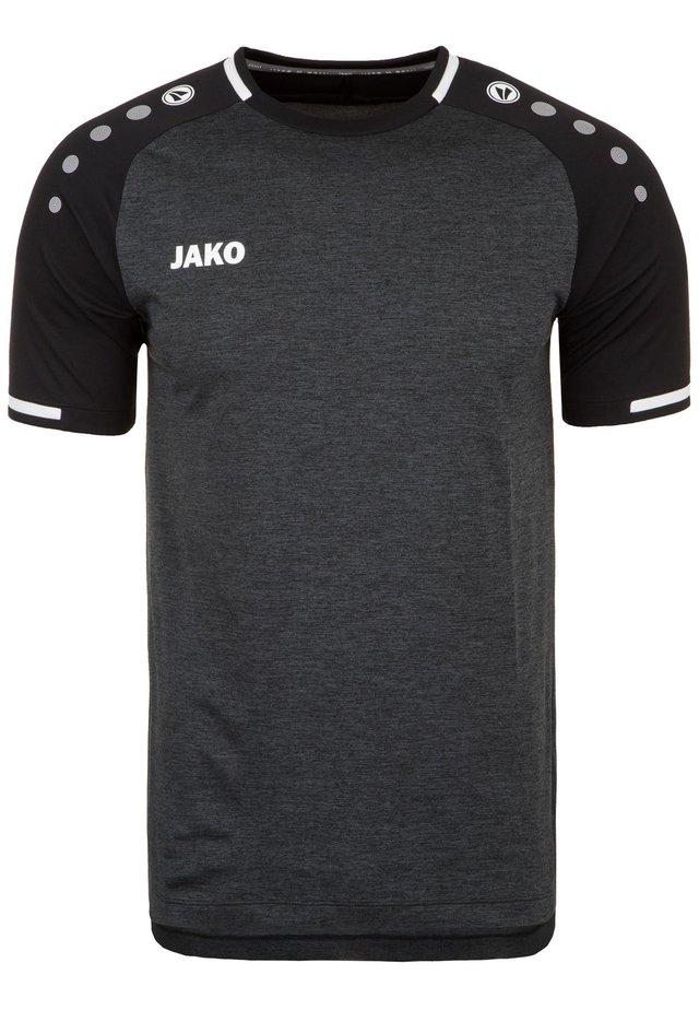 TRIKOT PRESTIGE HERREN - T-shirt print - schwarz meliert / weiß