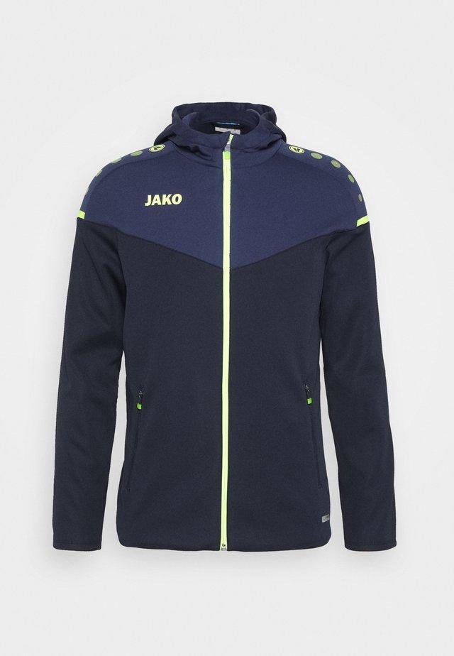 Training jacket - marine/blue/neongelb