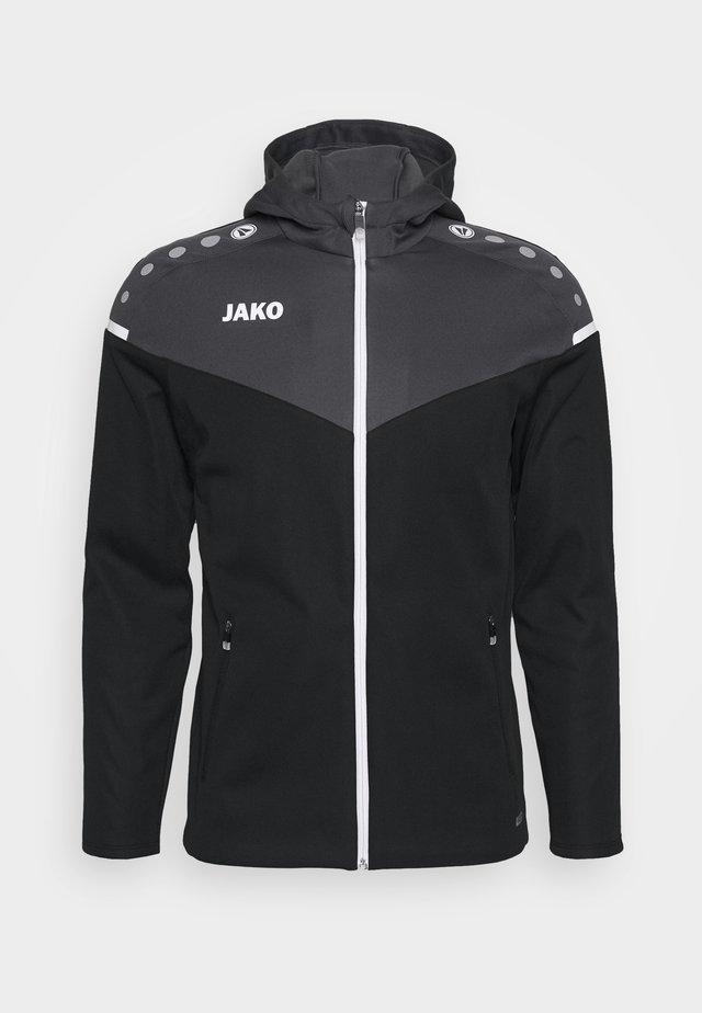 Trainingsjacke - schwarz/anthrazit