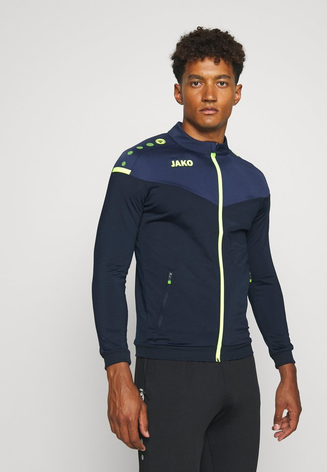 CHAMP 2.0 - Trainingsjacke - marine/blue/neongelb