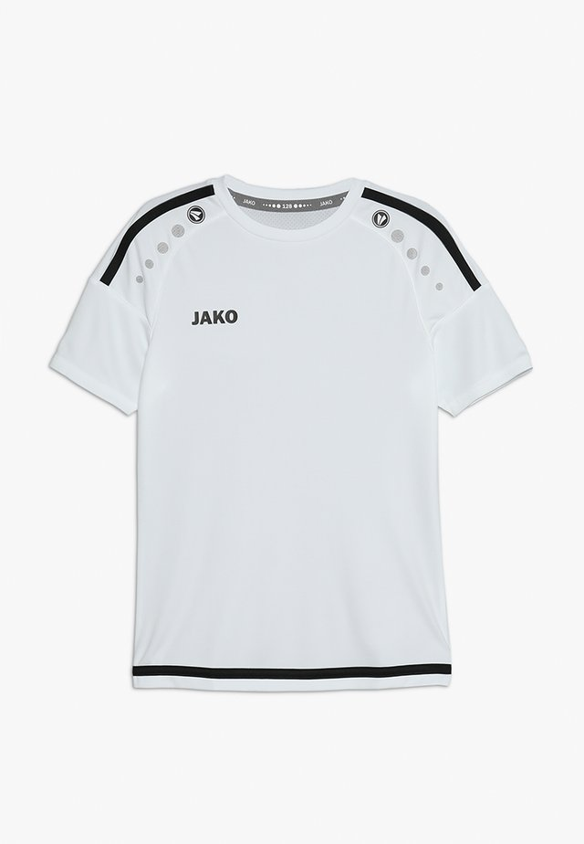TRIKOT STRIKER - T-Shirt print - weiß/schwarz