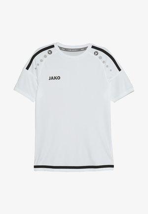 TRIKOT STRIKER - T-shirt z nadrukiem - weiß/schwarz