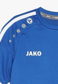 JAKO - TRIKOT STRIKER - T-shirt imprimé - royal/weiß - 3