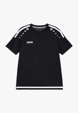 TRIKOT STRIKER - Camiseta estampada - schwarz/weiß