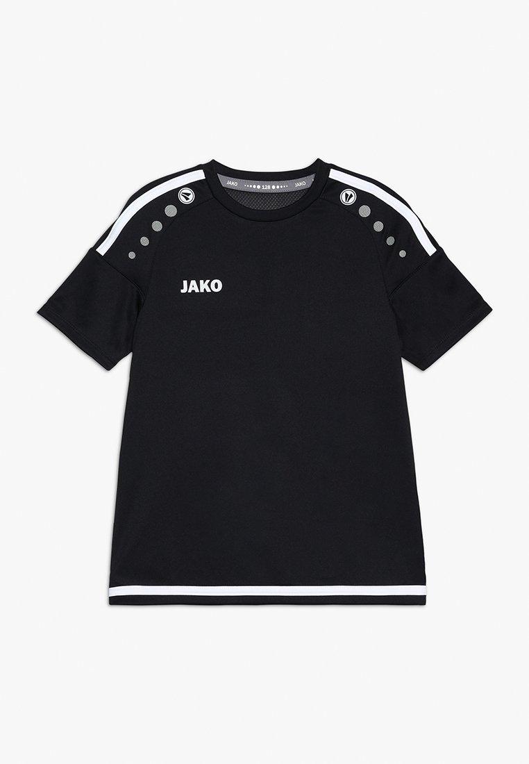 JAKO - TRIKOT STRIKER - Camiseta estampada - schwarz/weiß