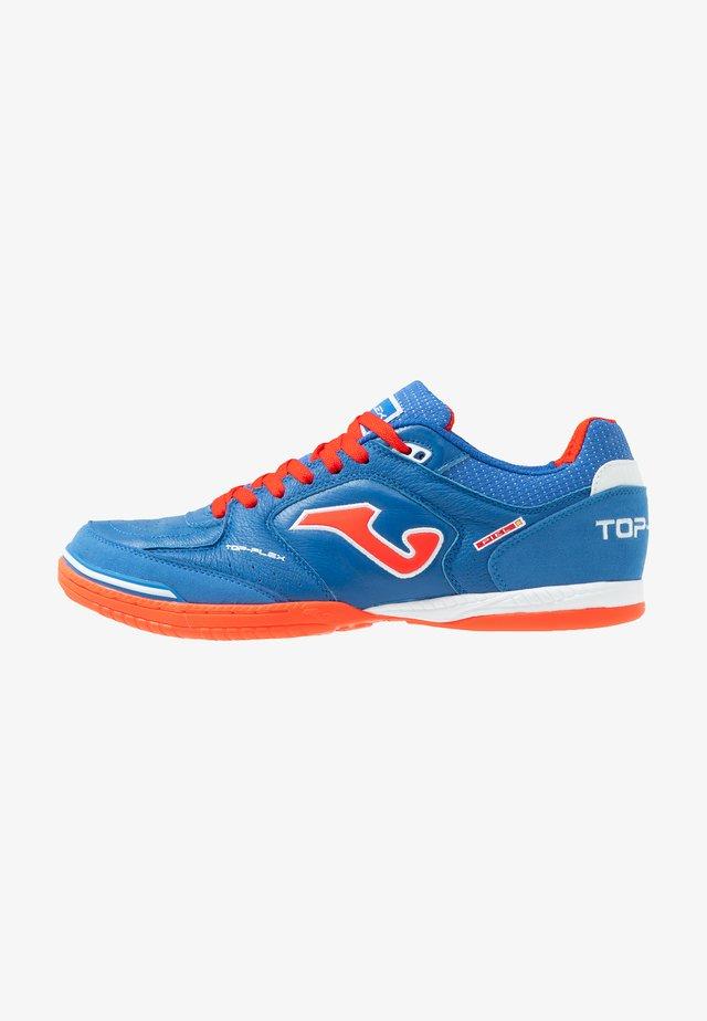 TOP FLEX - Indoor football boots - blau