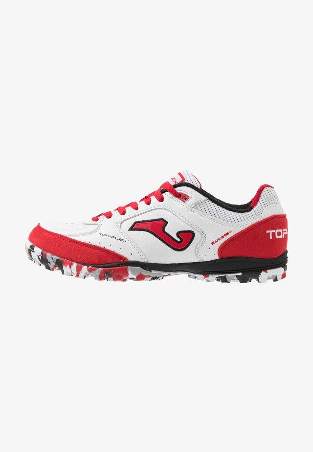 TOP FLEX - Fodboldstøvler m/ multi knobber - white/red