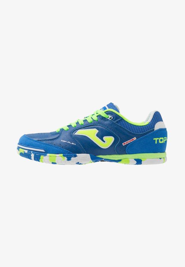TOP FLEX - Indoor football boots - blue/green