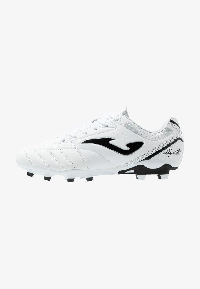 AGUILA GOL - Moulded stud football boots - white