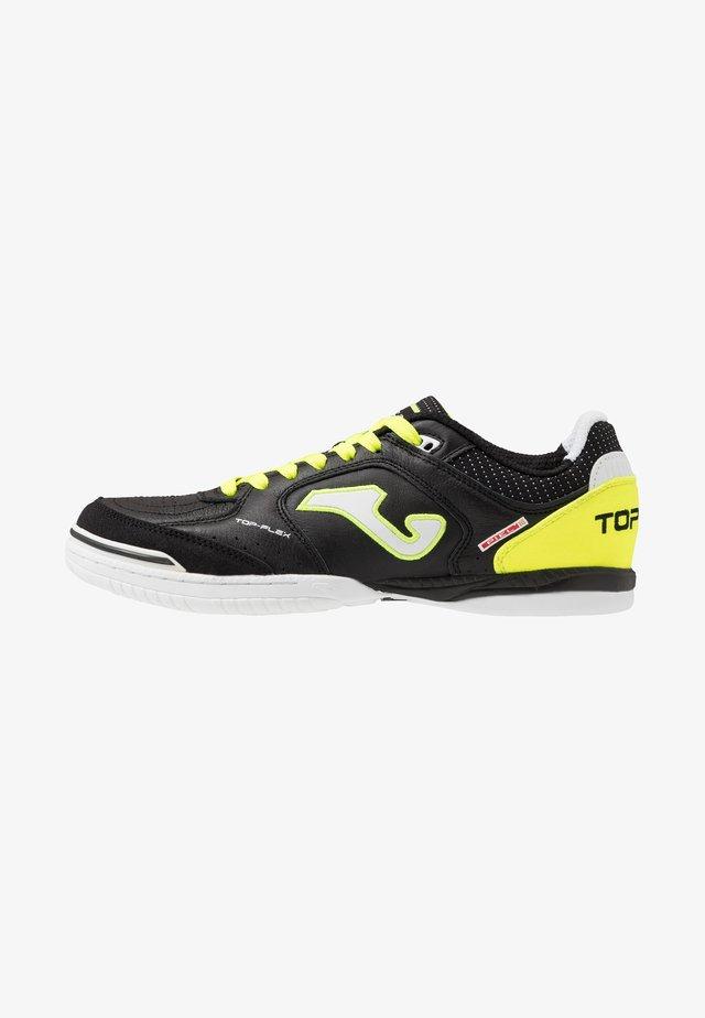 TOP FLEX - Zaalvoetbalschoenen - black/yellow