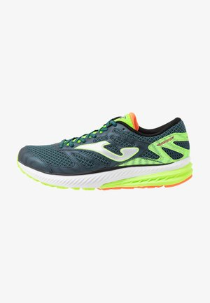 VICTORY - Obuwie do biegania treningowe - khaki/neon green