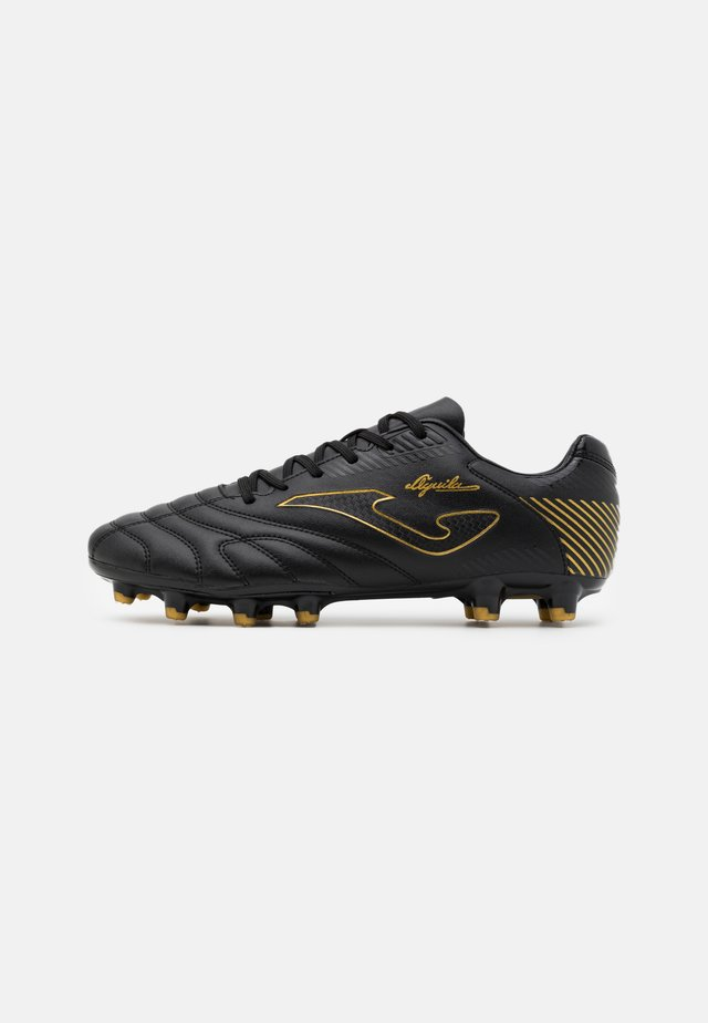 AGUILA - Moulded stud football boots - black/gold