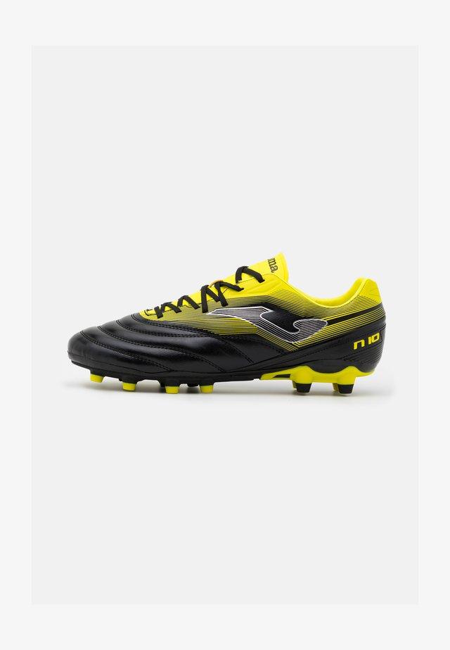 N10 - Fotbollsskor fasta dobbar - black/yellow