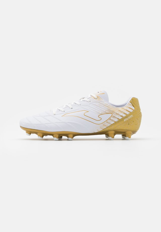 XPANDER - Moulded stud football boots - white/gold