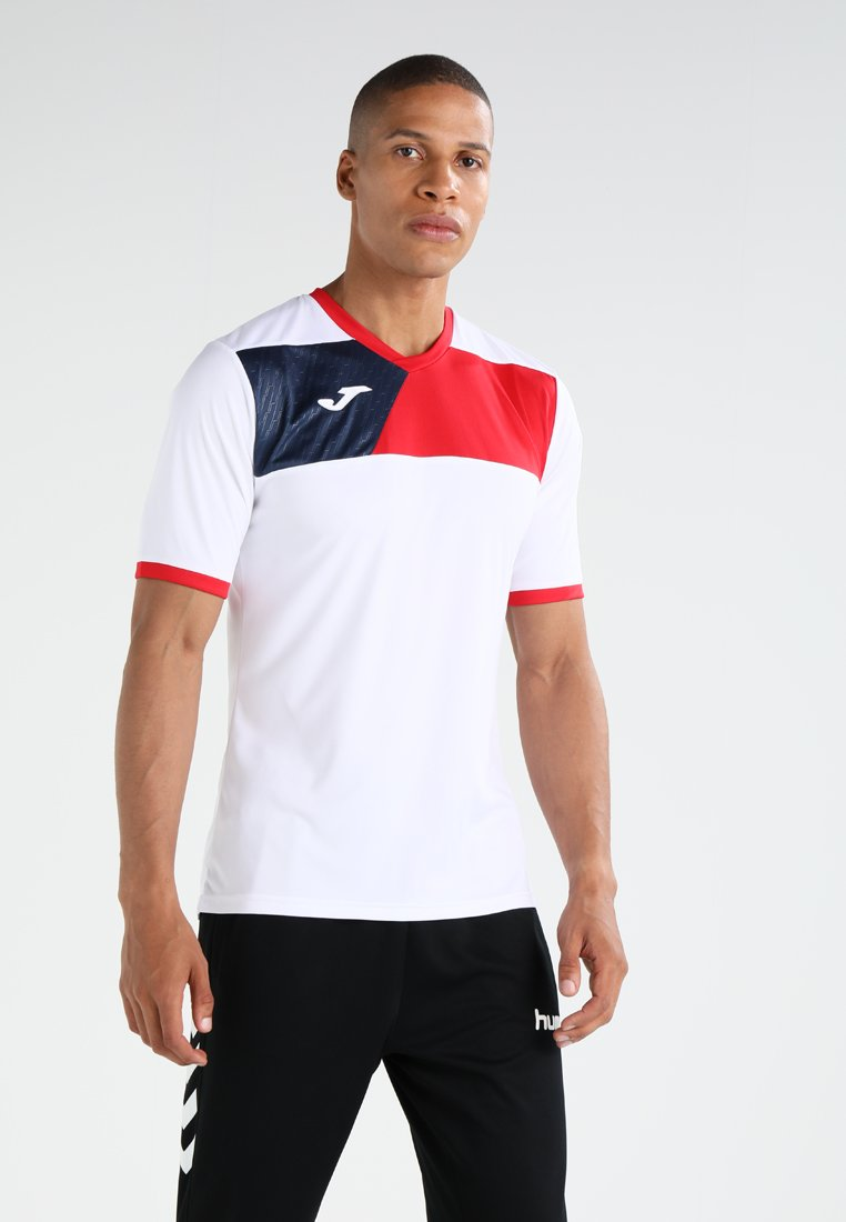 Joma - CREW II - Sportswear - white/red/dark navy