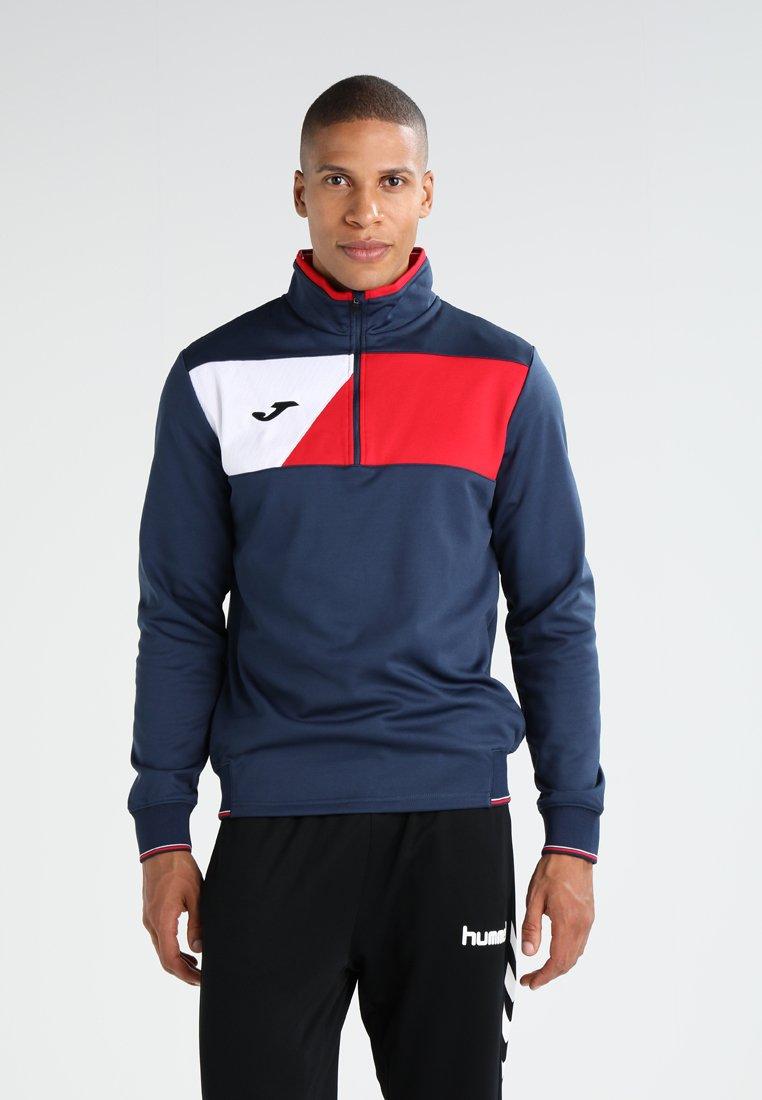 Joma - CREW II - Sweatshirt - dark navy/red/white