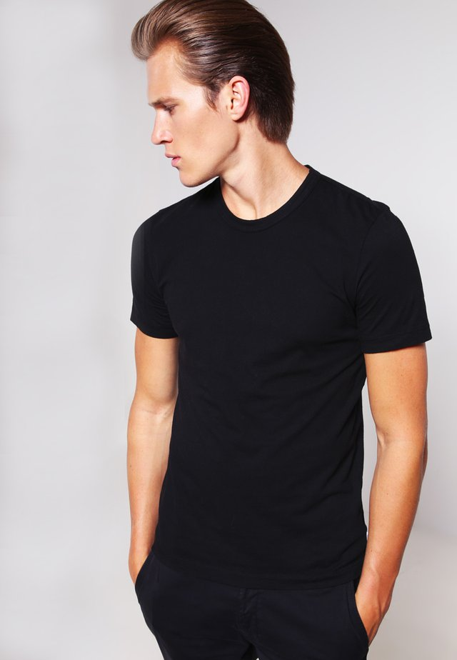 CREW LIGHTWEIGHT - T-shirt - bas - black