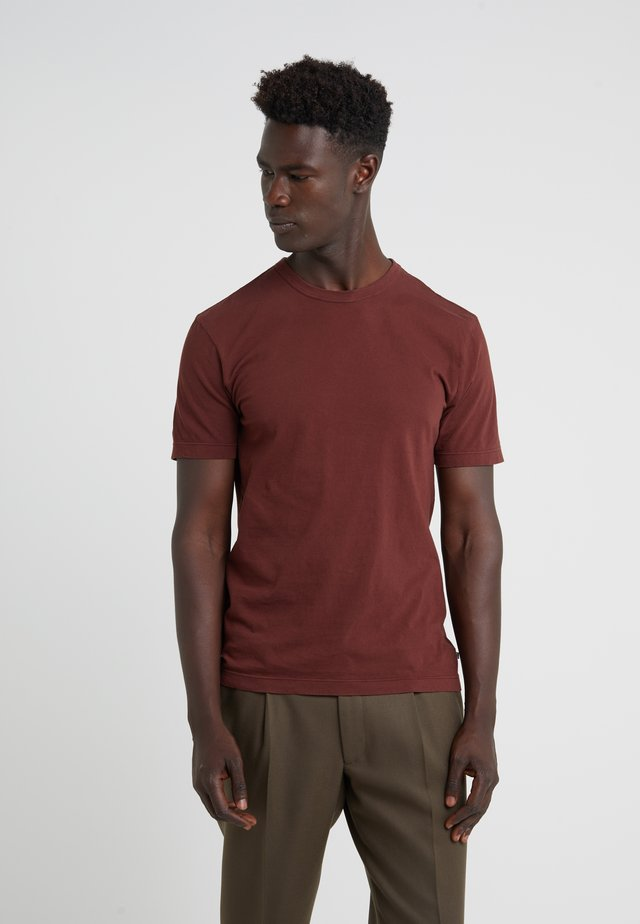 CREW - T-shirt basic - cherrywood