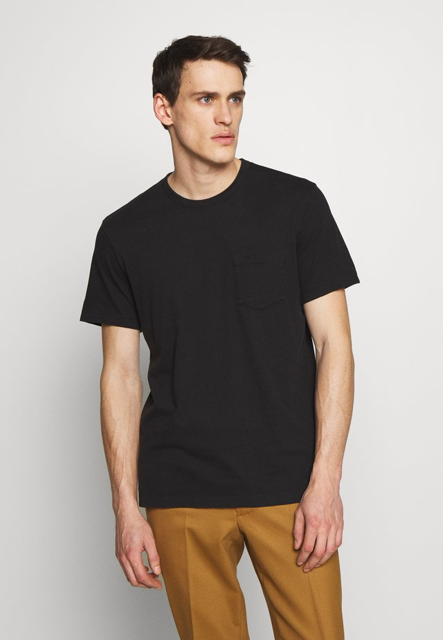 POCKET - T-shirt - bas - black