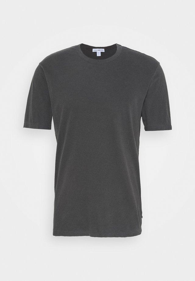 GRAPHIC CREW NECK - T-shirt - bas - carbon