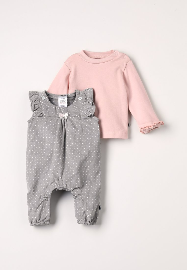 Jacky Baby - HAPPY - Overall / Jumpsuit - altrosa/stein