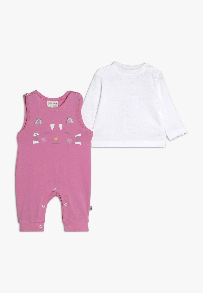 Jacky Baby - LAUFHOSEN RAIN OR SHINE 2-IN-1 - Jumpsuit - pink/weiß