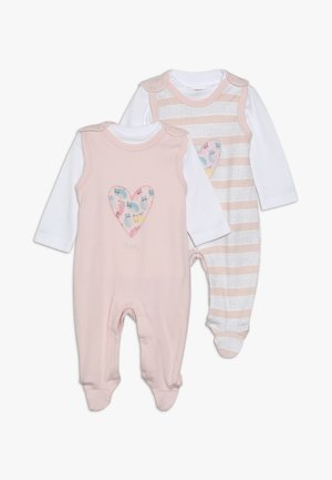 SET GIRLS 2 PACK - Sleep suit - light pink
