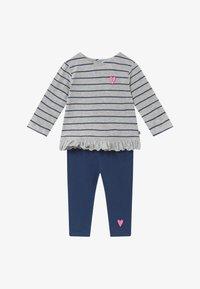 Jacky Baby - KOALA BEAR SET - Leggings - Trousers - light grey/dark blue - 3