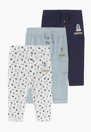 MON PETIT 3 PACK - Trousers - light blue