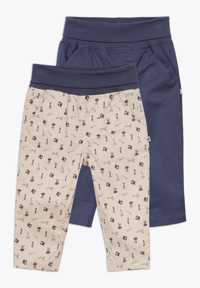 COUCOU MON PETIT 2 PACK - Trousers - dark blue