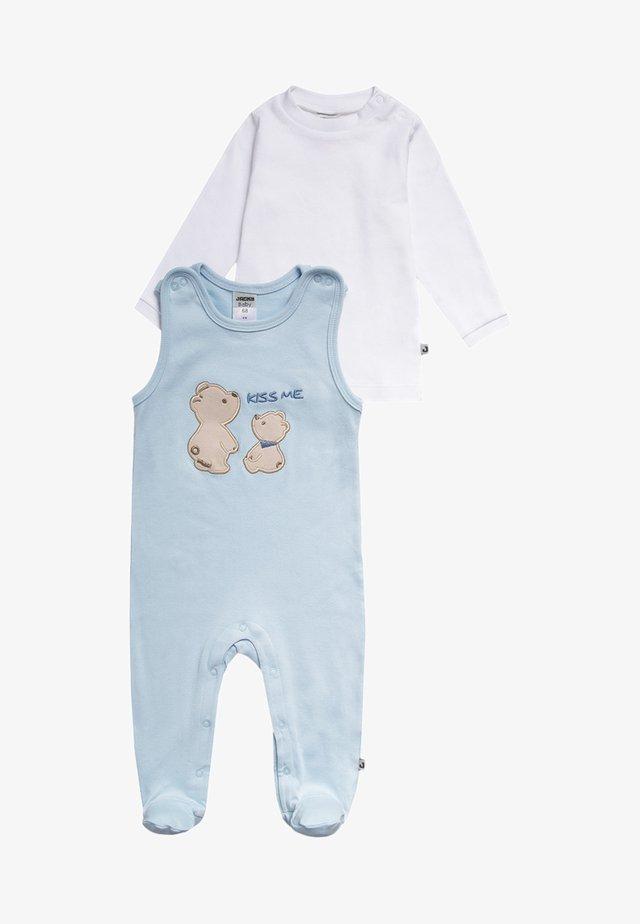 SET - Sleep suit - hellblau/weiß