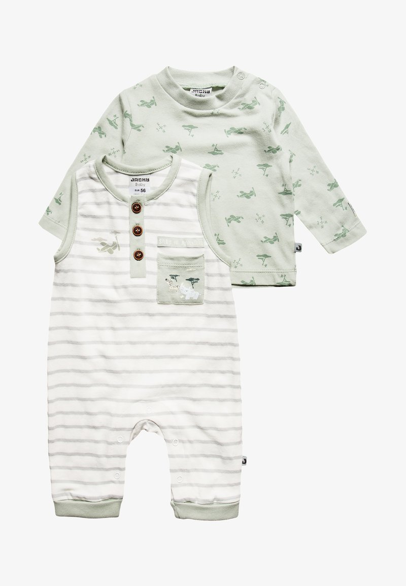 Jacky Baby - BOY SET - Jumpsuit - offwhite/pistazie