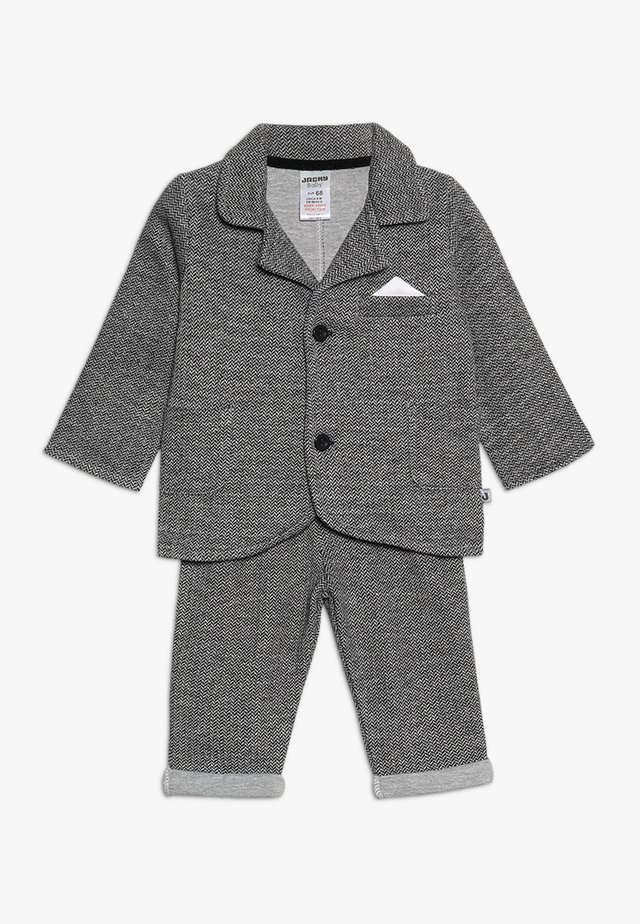 SET CLASSIC BOYS SUIT - Anzug - schwarz/grau mélange