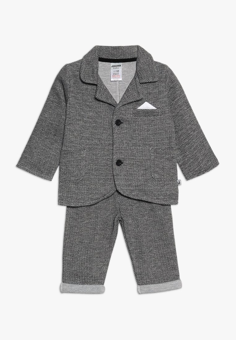 Jacky Baby - SET CLASSIC BOYS SUIT - Kostuum - schwarz/grau mélange
