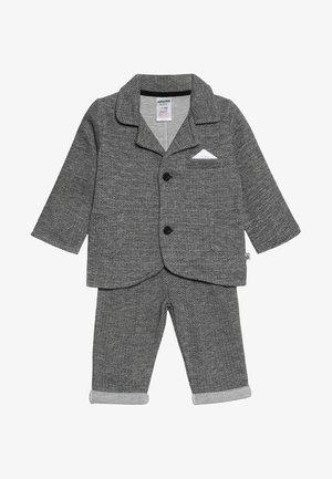 SET CLASSIC BOYS SUIT - Oblek - schwarz/grau mélange