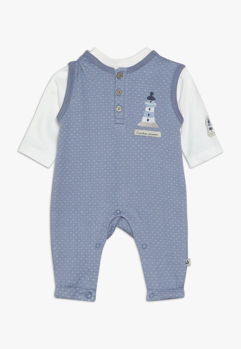 Jacky Baby - LAUFHOSEN SET - Jumpsuit - blau/off-white