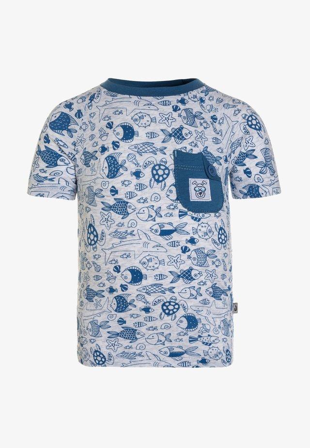 DIVER - Print T-shirt - hellgrau-melange